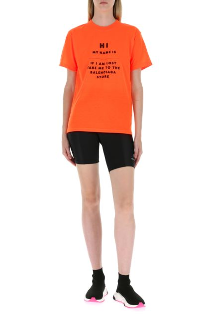 Fluo orange polyester t-shirt