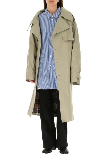 Cappuccino cotton oversize trench coat