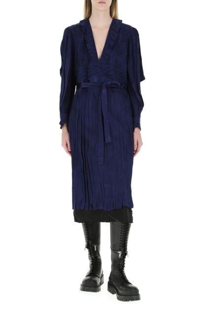 Blue damask dress