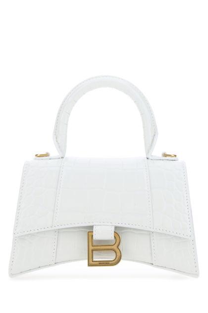 White leather XS Hourglass handbag