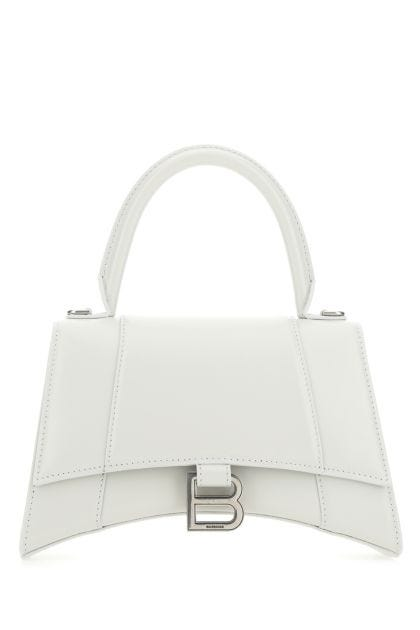 Chalk leather Hourglass handbag