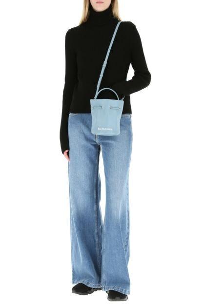 Powder blue leather XS Everyday bucket bag