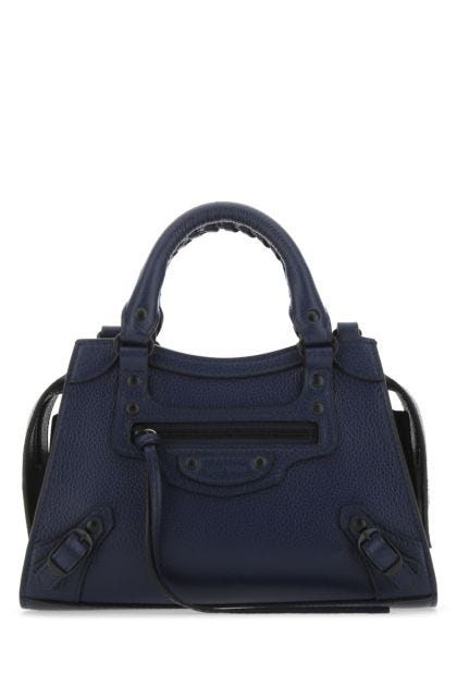 Dark blue leather mini Neo Classic handbag