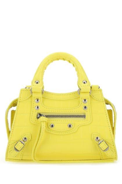 Yellow leather nano Neo Classic handbag