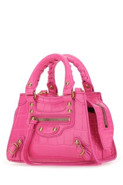 Fuchsia leather mini Neo Classic handbag