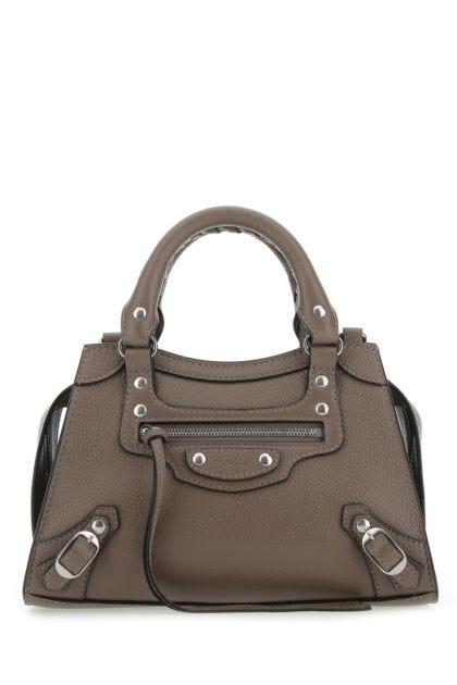 Dove grey leather mini Neo Classic handbag