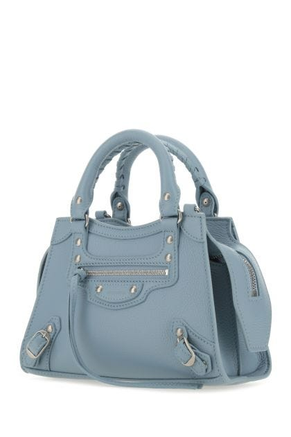 Powder blue leather mini Neo Classic handbag