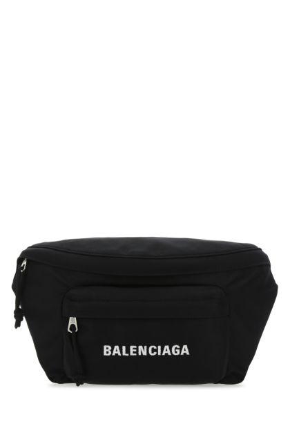 Black nylon Wheel belt bag