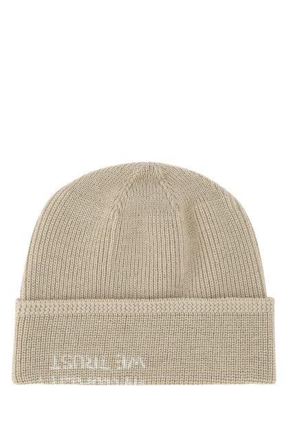Cappuccino wool blend beanie hat