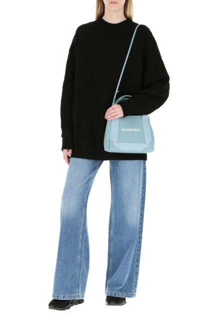 Powder blue canvas Cabas Navy XS handbag