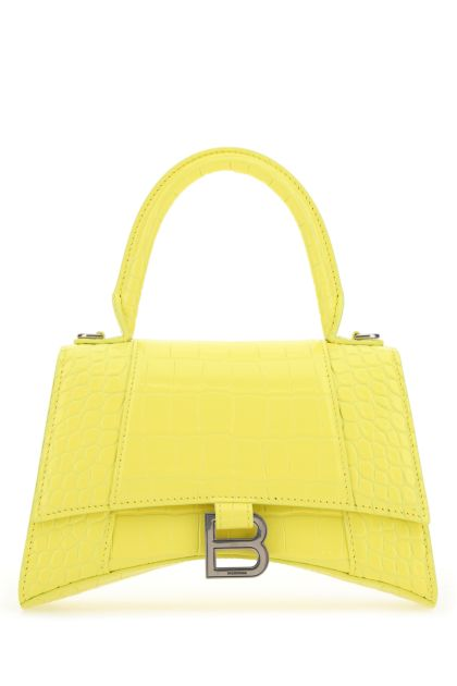 Yellow leather S Hourglass handbag