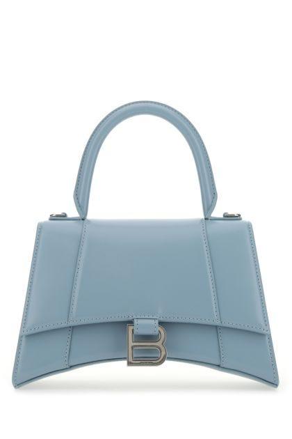 Powder blue leather Hourglass handbag