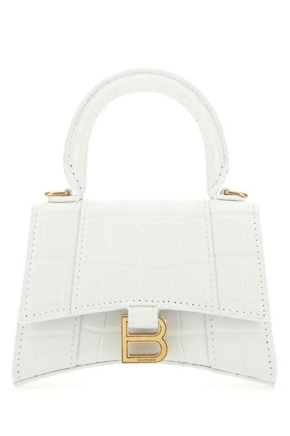 White leather mini Hourglass handbag