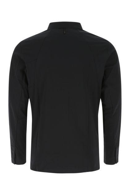 Black stretch nylon shirt