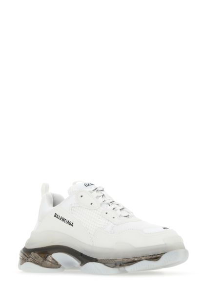 White mesh and synthetic leather Triple S Clear Sole sneakers