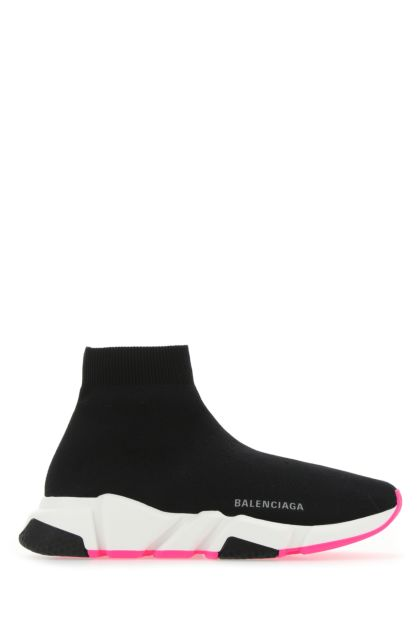 Black stretch fabric Speed sneakers