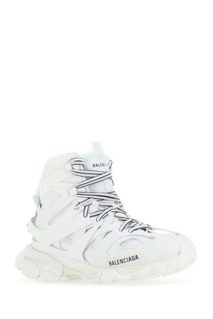White mesh and nylon Track Hike sneakers