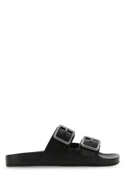 Black nappa leather Mallorca slippers
