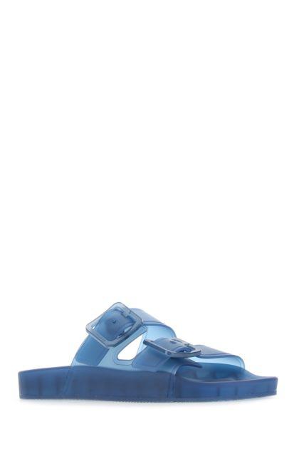 Blue rubber Mallorca slippers
