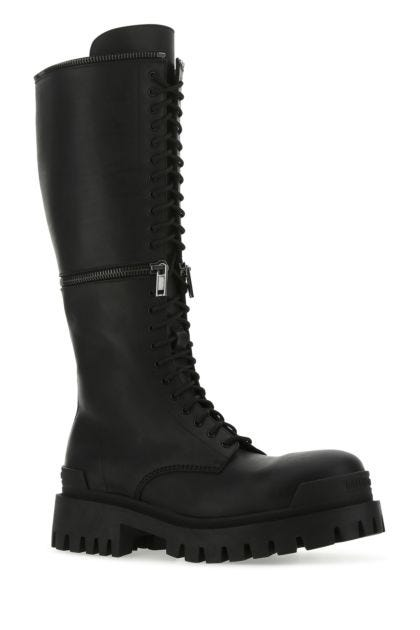 Black leather Master boots