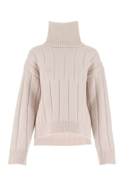 Powder pink wool blend sweater