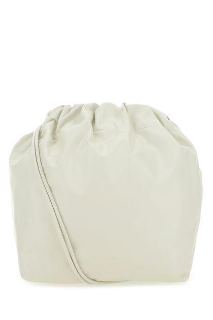 Chalk leather bucket bag