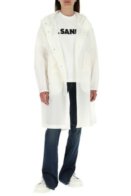 Ivory cotton overcoat