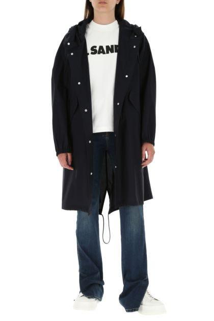 Midnight blue cotton overcoat