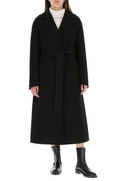 Black wool coat