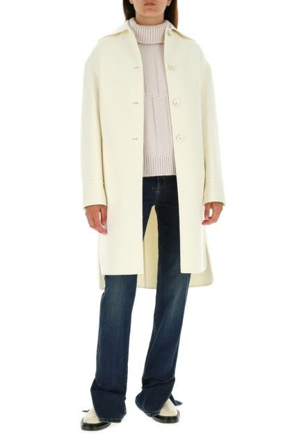 Ivory wool coat