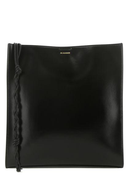 Black leather medium Tangle shoulder bag