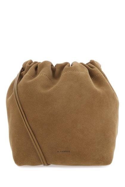 Biscuit suede small shoulder bag