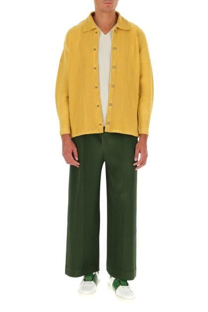Mustard polyester shirt
