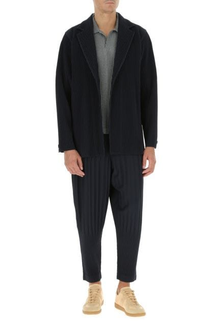 Midnight blue polyester blazer