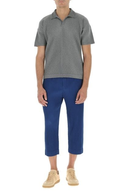 Blue polyester pant