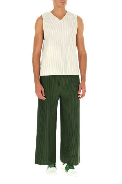 Green polyester pant