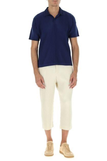 Blue polyester polo shirt
