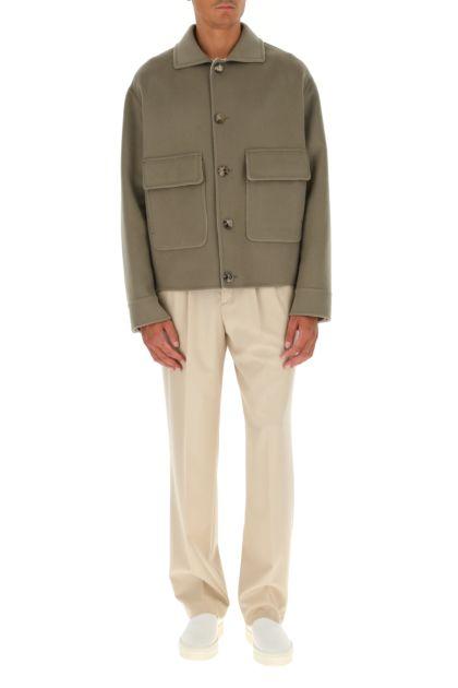 Dove grey cashmere coat