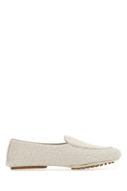 Chalk fur loafers