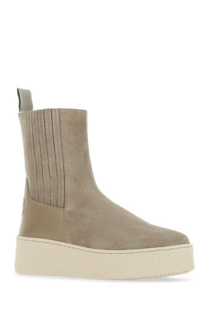 Cappuccino suede boots