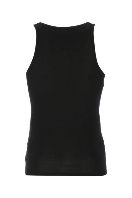 Black cotton and modal tank top