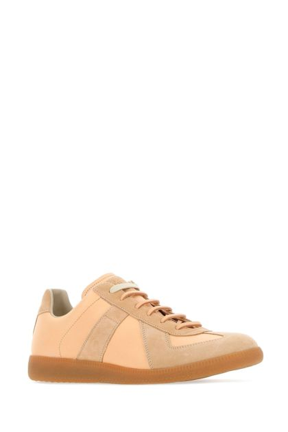 Skin pink leather and suede Replica sneakers