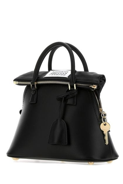 Black leather mini 5AC handbag