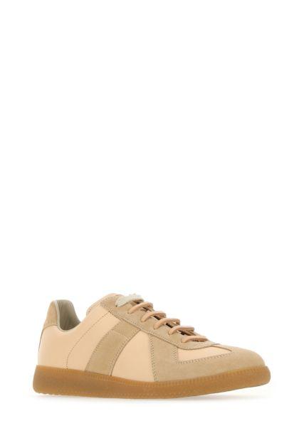Skin pink leather Replica sneakers