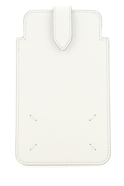 White leather phone case