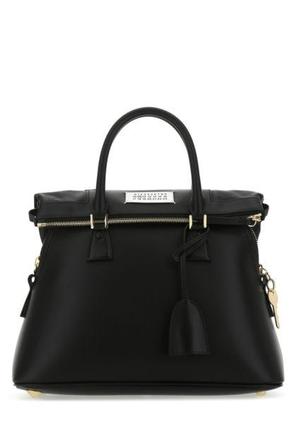 Black leather 5AC handbag