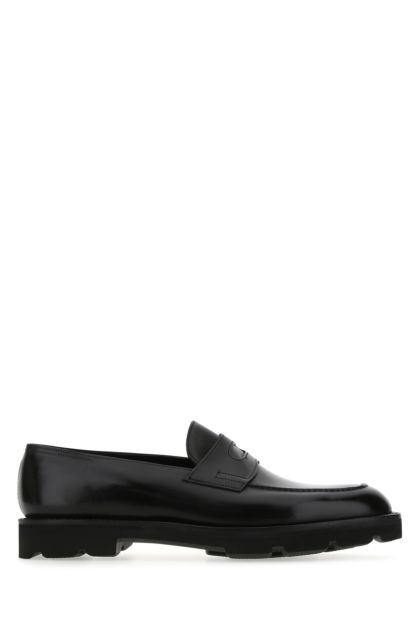 Black leather Lopez loafers