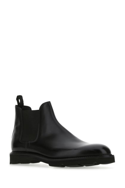 Black leather Lawry ankle boots