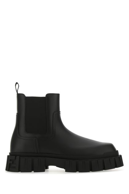 Black leather Fendi Force ankle boots
