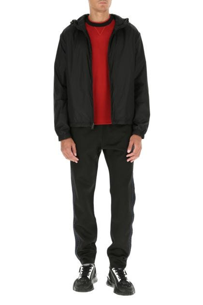 Black polyester reversible jacket